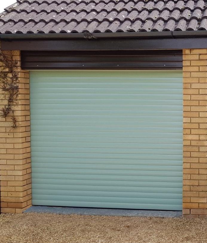 The Garage Door >> Rd77 Superior Single Electric Roller Garage Door Rollerdor Ltd