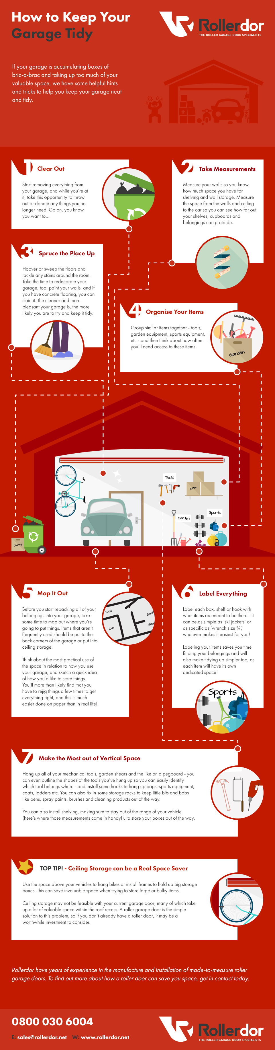 How To Keep Your Garage Tidy Infographic Rollerdor Garage Doors
