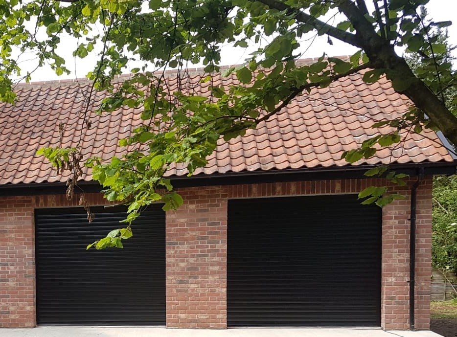 executive double roller garage doors by Rollerdor Ltd